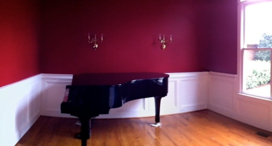 Piano Room before transformation into my art/jewelry studio
