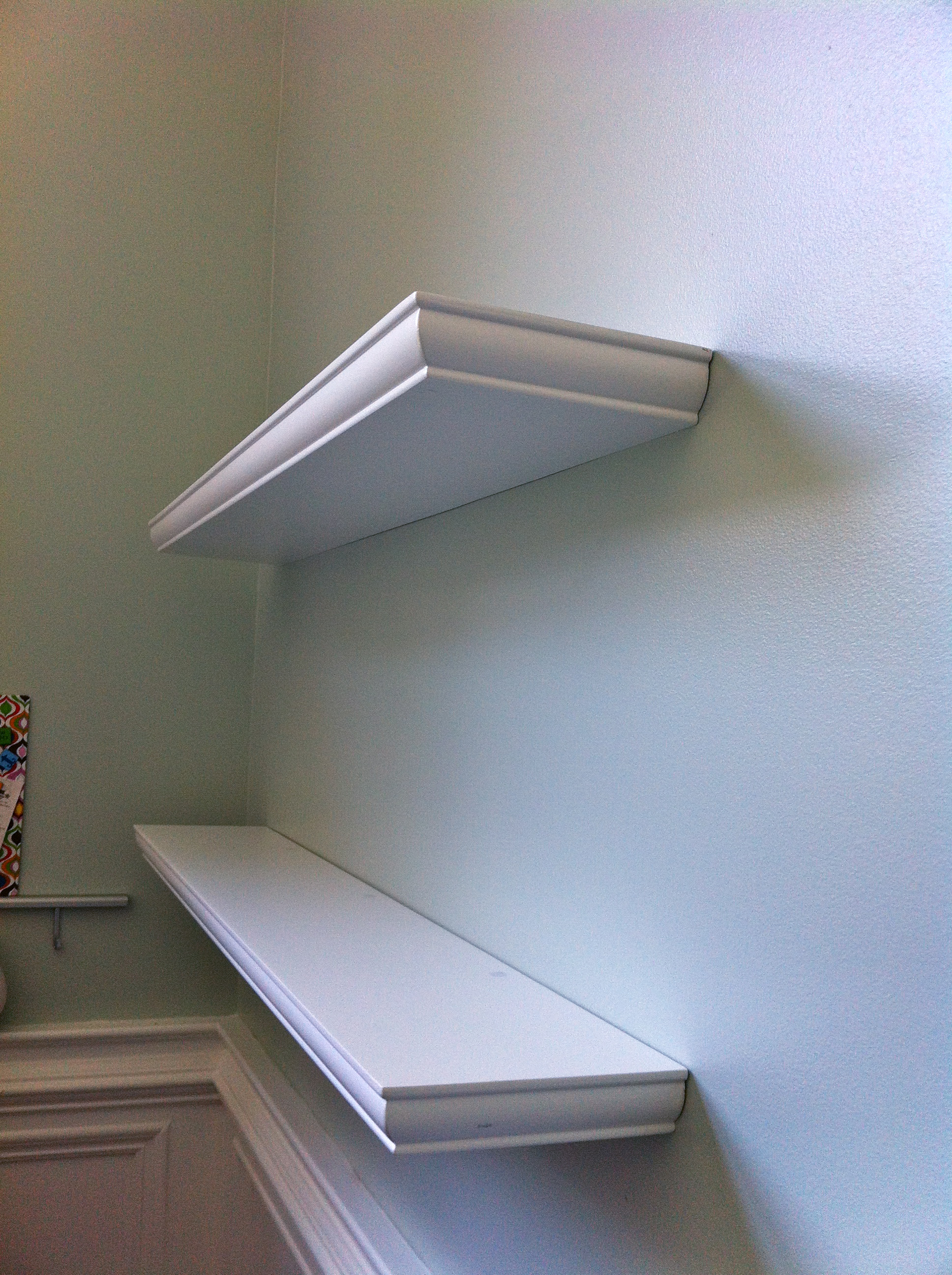 Floating Shelves For My Desk Walkthecreativepath