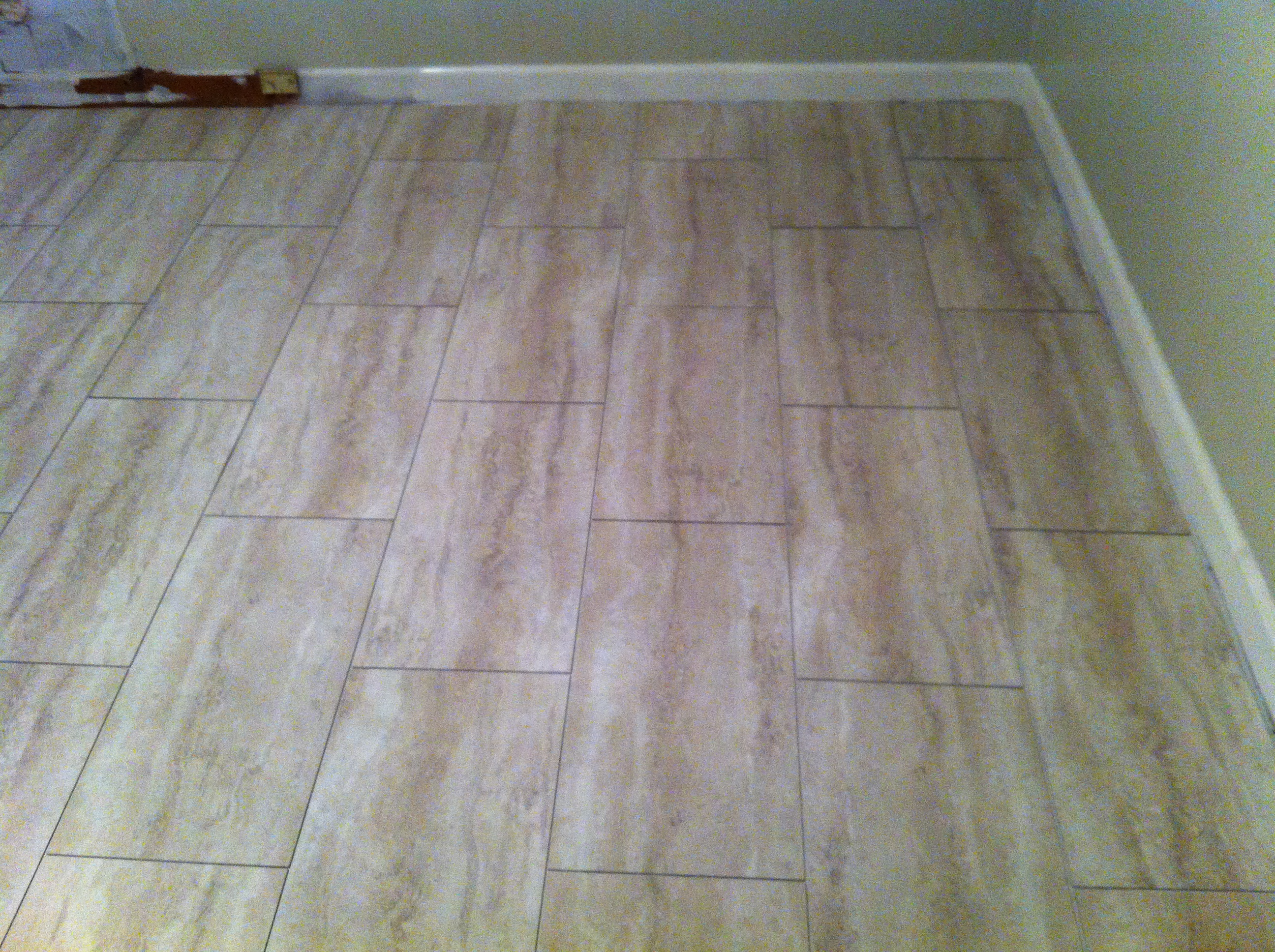 Groutable vinyl tile walkthecreativepath Vinyl tile floor